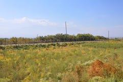 Φράκτης στα σύνορα μεταξύ της Αρμενίας και της Τουρκίας Lusarat, Αρμενία Στοκ Εικόνες