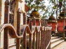 Φράκτης στο ναό στο Κατμαντού, Νεπάλ Στοκ φωτογραφία με δικαίωμα ελεύθερης χρήσης