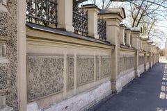 Φράκτης τοίχων του κήπου παλατιών Στοκ Φωτογραφία