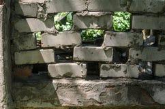 Φράκτης τούβλου Στοκ Εικόνα
