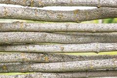 Φράκτης των κούτσουρων Στοκ Φωτογραφία