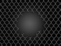 Φράκτης Chainlink με την τρύπα απεικόνιση αποθεμάτων