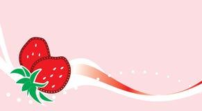 φράουλα ανασκόπησης Απεικόνιση αποθεμάτων