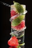 φράουλα ασβέστη φυσαλίδ&o Στοκ Φωτογραφίες