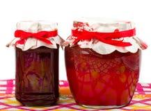 φράουλα βάζων μαρμελάδας κερασιών Στοκ εικόνες με δικαίωμα ελεύθερης χρήσης