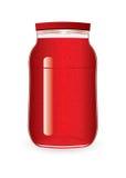 φράουλα βάζων μαρμελάδας απεικόνιση αποθεμάτων