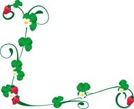 φράουλα γωνιών διανυσματική απεικόνιση