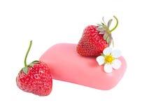 φράουλα δύο σαπουνιών λουλουδιών Στοκ φωτογραφία με δικαίωμα ελεύθερης χρήσης