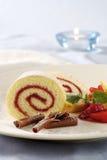 φράουλα Ελβετός ρόλων μα& Στοκ φωτογραφία με δικαίωμα ελεύθερης χρήσης