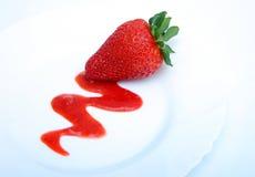 φράουλα επιδορπίων στοκ φωτογραφία