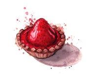 φράουλα κέικ ξινή Στοκ Εικόνες