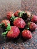 Φράουλα κήπων, ΜΟΥΡΟ του ROWAN, ΑΓΡΙΟ ΚΕΡΑΣΙ, VOLUPTOUS Στοκ Εικόνες