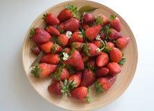 Φράουλα και camomile με το φυσικό φως Στοκ Φωτογραφία