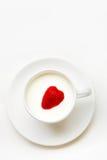 φράουλα καρδιών Στοκ Εικόνες