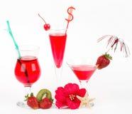 φράουλα κοκτέιλ αλκοόλης Στοκ Εικόνα