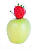φράουλα μήλων Στοκ φωτογραφία με δικαίωμα ελεύθερης χρήσης