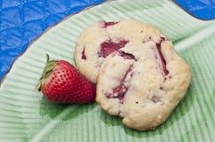 φράουλα μπισκότων shortcake Στοκ Εικόνες