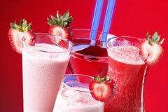 φράουλα νέου ποτών Στοκ Εικόνα