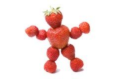 φράουλα προσώπων Στοκ Εικόνες