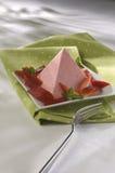 φράουλα πυραμίδων jello στοκ εικόνες με δικαίωμα ελεύθερης χρήσης