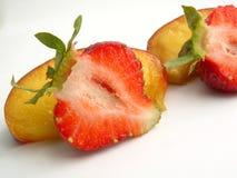 φράουλα ροδάκινων Στοκ φωτογραφία με δικαίωμα ελεύθερης χρήσης