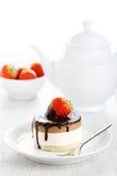 φράουλα σοκολάτας κέικ Στοκ φωτογραφίες με δικαίωμα ελεύθερης χρήσης