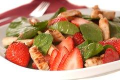 φράουλα σπανακιού σαλάτας Στοκ Εικόνα