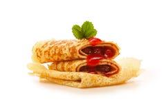 φράουλα τηγανιτών μαρμελάδας Στοκ Φωτογραφίες