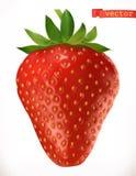 Φράουλα Τρισδιάστατο διανυσματικό εικονίδιο νωπών καρπών Στοκ εικόνα με δικαίωμα ελεύθερης χρήσης