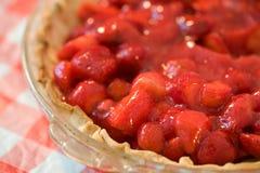 φράουλα φετών πιτών Στοκ Εικόνες