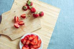 Φράουλα φρέσκια φράουλα Κόκκινη φράουλα Οργανικός και natura Στοκ εικόνες με δικαίωμα ελεύθερης χρήσης