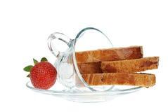 φράουλα biscotti στοκ φωτογραφίες