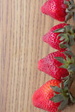 φράουλες γραμμών Στοκ φωτογραφία με δικαίωμα ελεύθερης χρήσης