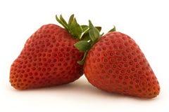 φράουλες δύο Στοκ Εικόνα