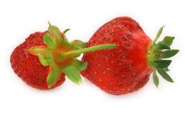 φράουλες δύο στοκ εικόνες