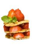 φράουλες επιδορπίων στοκ φωτογραφίες με δικαίωμα ελεύθερης χρήσης