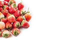 Φράουλες ομάδας στο άσπρο υπόβαθρο Στοκ Εικόνες
