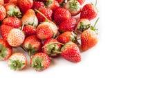 Φράουλες ομάδας στο άσπρο υπόβαθρο Στοκ Εικόνα