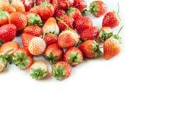 Φράουλες ομάδας στο άσπρο υπόβαθρο Στοκ εικόνα με δικαίωμα ελεύθερης χρήσης