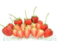Φράουλες στο κύπελλο Στοκ Φωτογραφίες