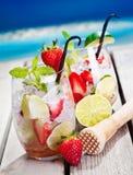 φράουλες mojito στοκ φωτογραφίες με δικαίωμα ελεύθερης χρήσης