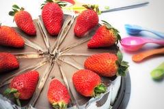 Φράουλα αρτοποιείων κέικ Στοκ εικόνα με δικαίωμα ελεύθερης χρήσης