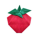 Φράουλα εγγράφου Origami Στοκ Εικόνες