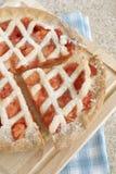 Φράουλα και πίτα της Apple Στοκ εικόνες με δικαίωμα ελεύθερης χρήσης