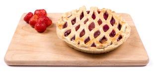 Φράουλα και πίτα της Apple Στοκ εικόνα με δικαίωμα ελεύθερης χρήσης