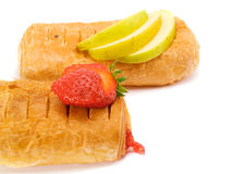 Φράουλα και πίτα της Apple Στοκ φωτογραφία με δικαίωμα ελεύθερης χρήσης