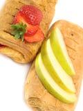 Φράουλα και πίτα της Apple Στοκ Εικόνες