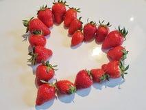 Φράουλα-καρδιά Στοκ Εικόνες