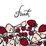 Φράουλα, κεράσι και υπόβαθρο αχλαδιών διάνυσμα Στοκ φωτογραφία με δικαίωμα ελεύθερης χρήσης
