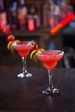 Φράουλα Μαργαρίτα Cocktail Στοκ Εικόνες